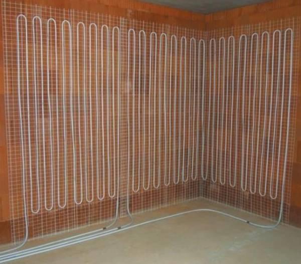 Riscaldamento pannelli radianti a parete confortevole soggiorno nella casa - Riscaldamento pannelli radianti a parete ...