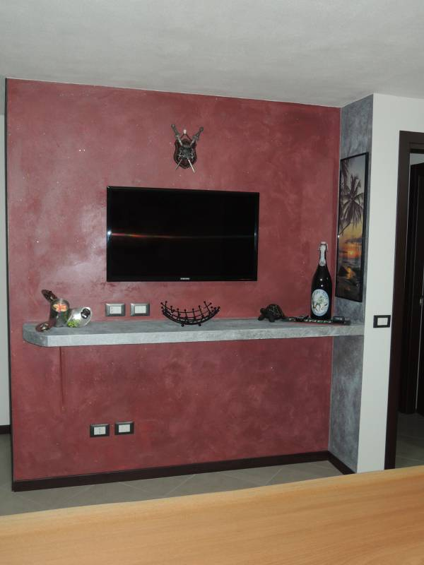 Mensola in cartongesso - Neon sopra pensili cucina ...